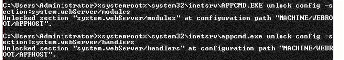 %systemroot%\system32\inetsrv\APPCMD.EXE unlock config -s